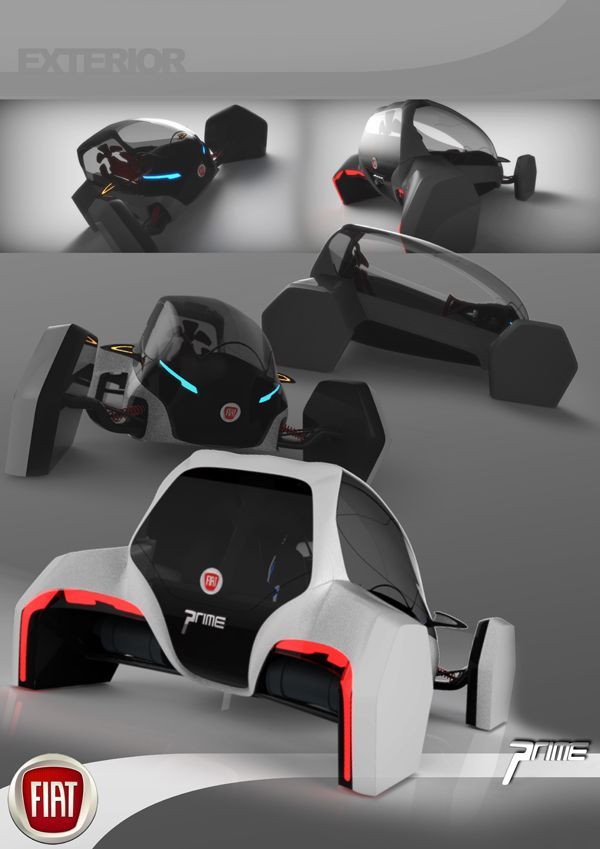 Elegant Sports Pod Of The Future   Designed For The Fiat Prime City Car Is A Take  On The Ultra Compact Personal Pod Of The Future With A Sporty Aesthetic  Thatu0027s ...