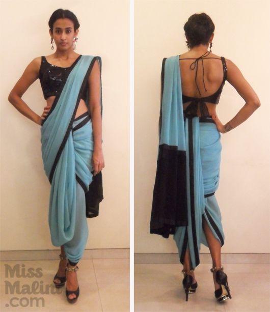 "Exclusive: How To Drape The ""Dhoti"" Sari Like Sonam Kapoor! - MissMalini"