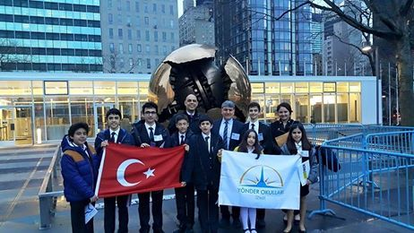 Izmir Yonder Schools Jm's Team at the United Nations Headquarters in New York City!