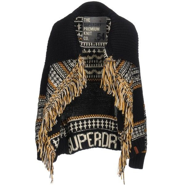 Superdry Cardigan (6.095 RUB) ❤ liked on Polyvore featuring tops, cardigans, dark blue, colorful cardigan, multi color cardigan, multi colored cardigan, logo top and superdry tops