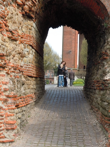 Colchester, England. The Roman wall is the oldest in Britain, dating back to 60 AD.