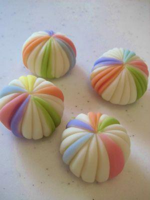 "Japanese Wagashi Cake ""Temari""|和菓子「手鞠」"