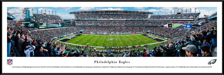 Philadelphia Eagles Panoramic Picture - Lincoln Financial Field Panorama - Standard Frame $99.95