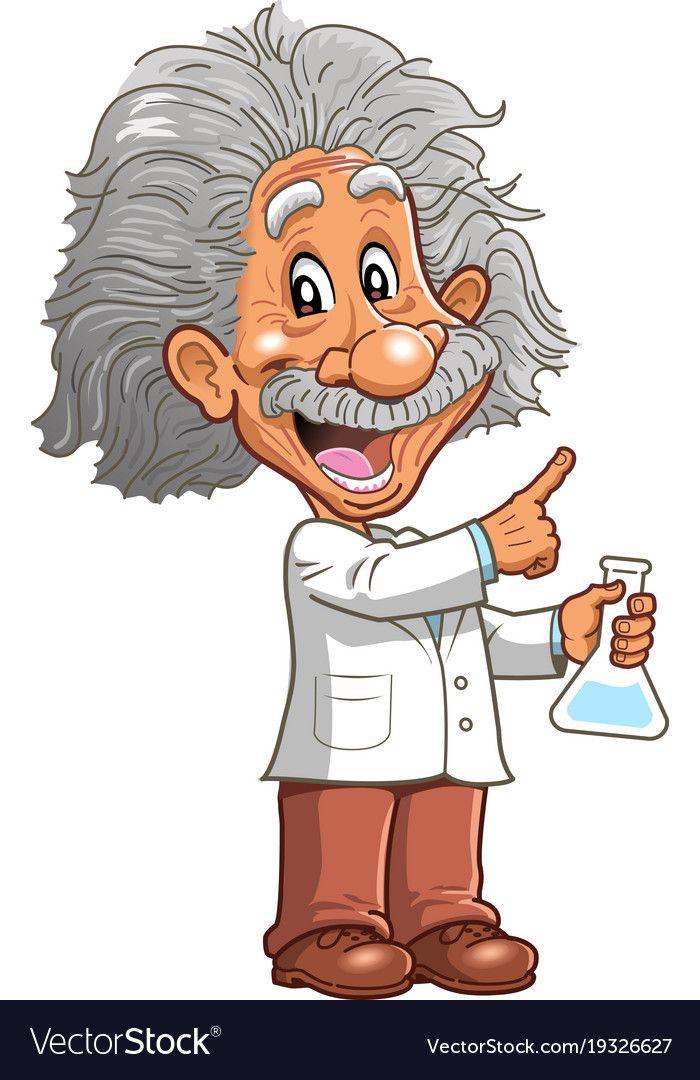 Albert Einstein Professor Genius Scientist Chemistry Teacher Pointing Cartoon Clipart Vector Download A Free Cartoon Clip Art Scientist Cartoon Happy Cartoon