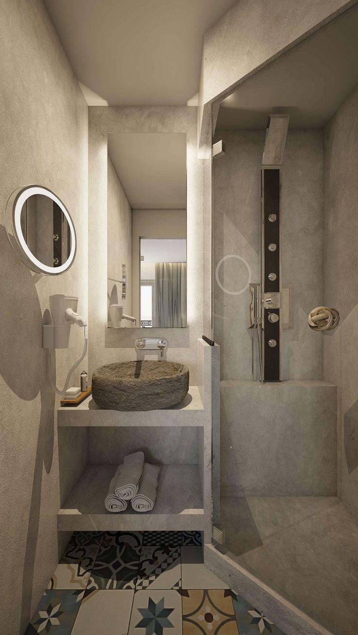 Faros Suite - Bathroom, Elakati Luxury Boutique Hotel, Rhodes , Greece