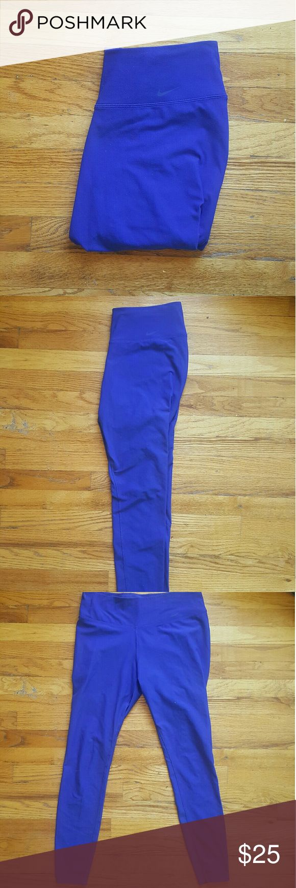 Nike Legend Dri Fit Pants -size Large (very tight fitting, could fit M or L) -full length -no signs of wear -beautiful royal blue color Nike Pants Leggings