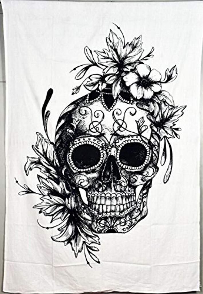 The skull and flowers indicate the cycle of life from