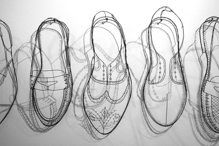 Inspired... Wire shoes, by artist Cathy Miles http://www.cathymiles.co.uk