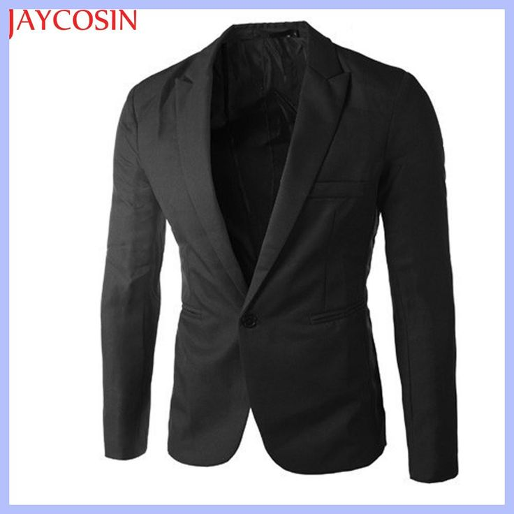 2017 Spring Autumn summer Charm Men's Casual Slim Fit One Button Suit Blazer Coat Jacket Tops Men Fashion Y7721