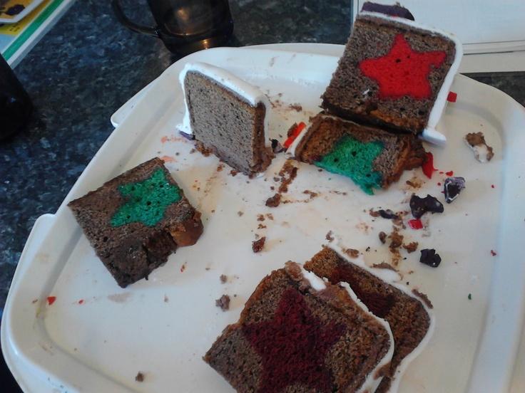 Inside star cake