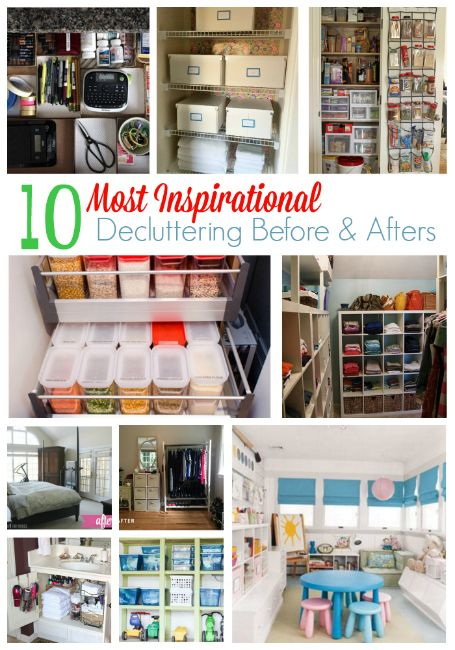 10 Most Inspirational Decluttering Before & After Phtos