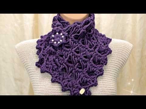 Tutorial sciarpa all'uncinetto - Dallas dream scarf rivisitata - bufanda crochet - crochet scarf - YouTube