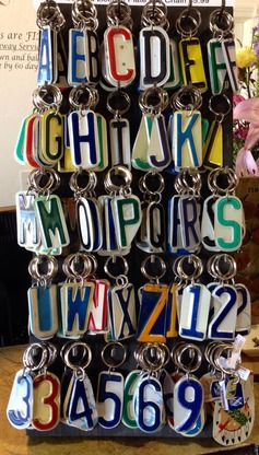 License Plate Keychains - Showplace Market