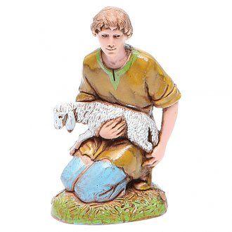 Pastor con cordero 10 cm Moranduzzo