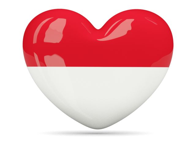 Heart icon. Download flag icon of Indonesia at PNG format