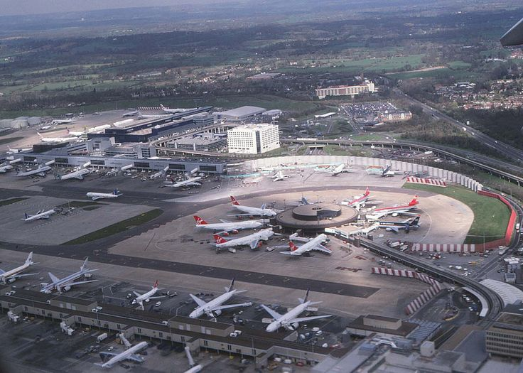 Gatwick Airport aerial view 2000