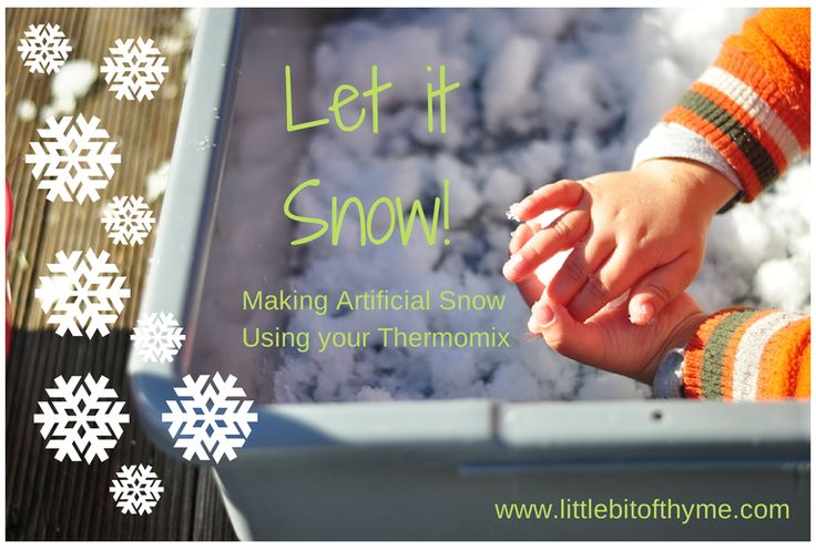 Thermomix #recipe for #fun: #dyi artificial snow :) via @lbothyme