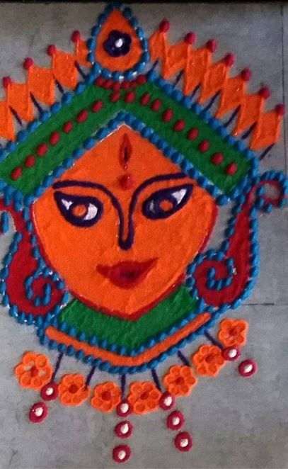 Dussehra Rangoli Designs and Patterns