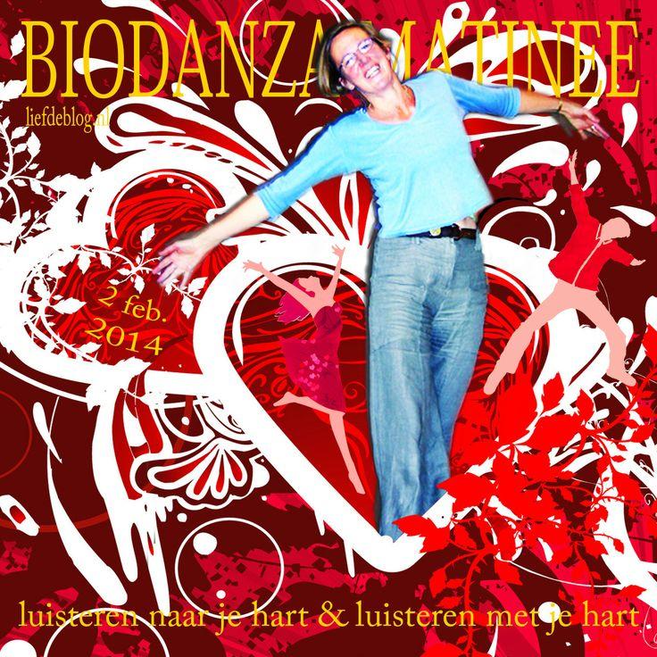 Luisteren naar je hart & luisteren met je hart... 2 Februari Biodanza matinee met Jantine Gerbscheid in De Balzaal in Gouda. Twee workshops en samen gezellig lunchen! www.liefdeblog.nl