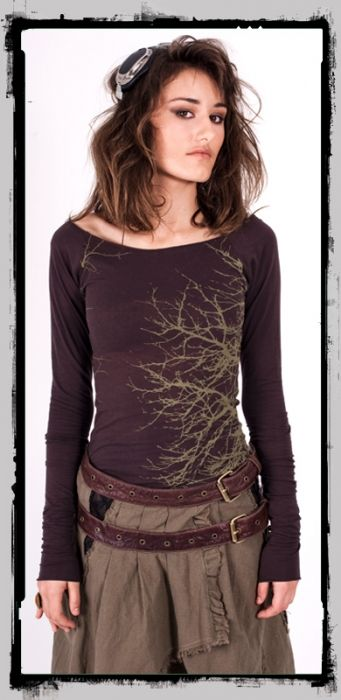 Branch Out Top - Black - Large