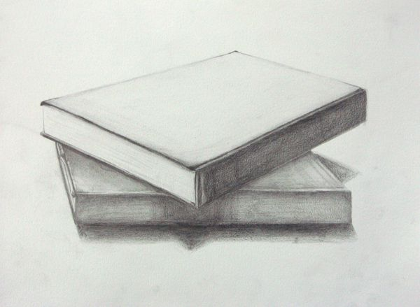 One point two point perspective rendered pencil on drawing paper