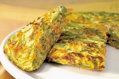 Tortilla de calabacines, animarse al microondas - comida sana