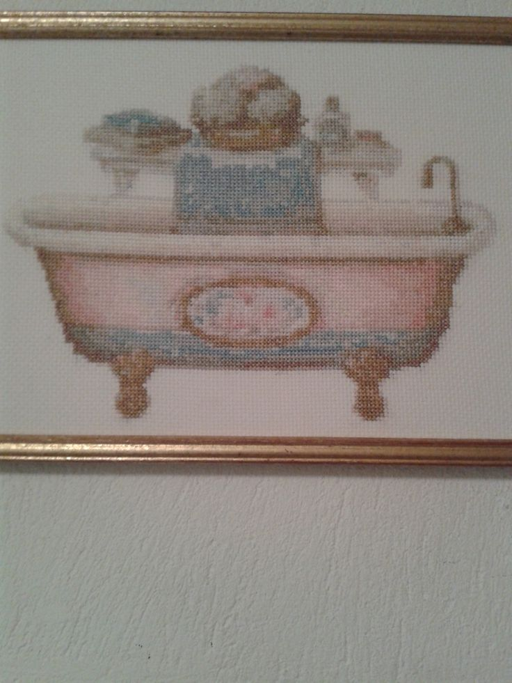 bañera en punto de cruz