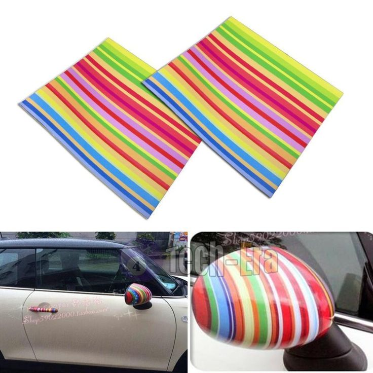 Cheap vinyl stickers custom, Buy Quality sticker eyeliner directly from China vinyl tile stickers Suppliers: 2pcs Monogram Color Stripe Vinyl Stickers For Mini Cooper Side Mirrors (L&R)