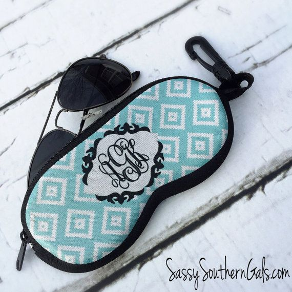 SunGlasses Case Monogrammed Sunglasses Case by SassySouthernGals