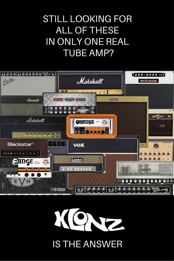 Klonz is the first Full Tube, Analogue, Modelling Guitar Amplifier kit! You can get the tone and feel of most famous guitar amps! You will need just a screwdriver! Get it on Kickstarter!