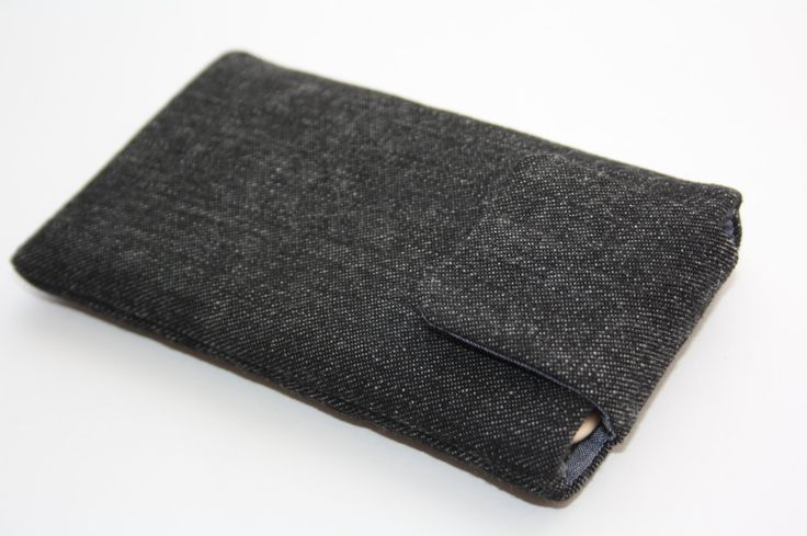 Zwarte jeans iPhone 6 sleeve-iPhone 6 -iPhone 6 case-iPhone 6 hoes-iPhone 6 cell-iPhone 6-iphone case- /Denim sleeve-Magnetic closing door TASAMA op Etsy