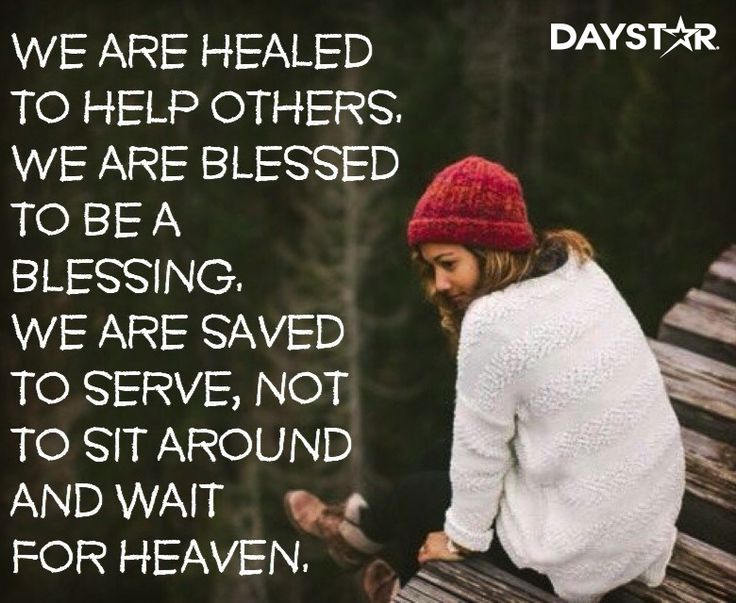 We are healed to help others.We are blessed to be a blessing. We are saved to…