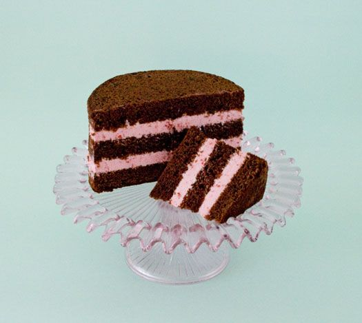 Chocolate Cake with Raspberry Filling • CakeJournal.com