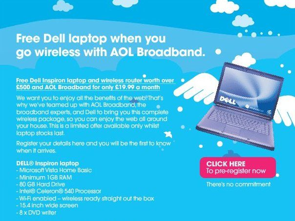 Free laptops at Carphone Warehouse with AOL | Following on from PC World's offer of a free laptop with an Orange Broadband sub, Carphone Warehouse has jumped on the bandwagon with a deal involving a subscription to AOL Broadband Buying advice from the leading technology site