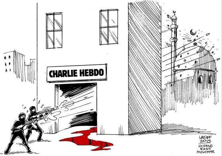 """À méditer le dessin de Carlos Lattuf... #CharlieHebdo"""