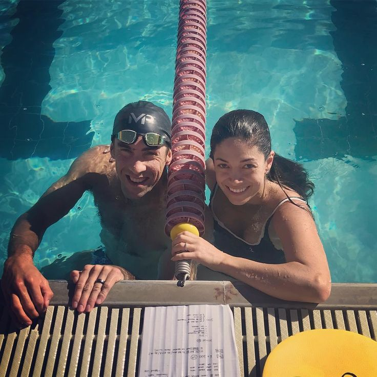 Husband and wife swimming day!! @mrs.nicolephelps