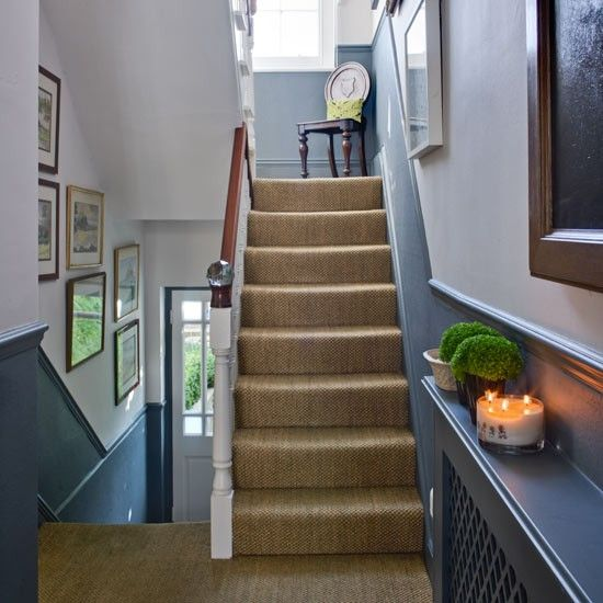 Welcoming hallway | Step inside a south London town house | housetohome.co.  Blackboard a good idea