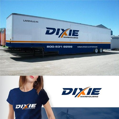 """The main word is """"DIXIE"""" but the full title is Dixie WAREHOUSING - MOVING & STORAGE COMPANY -TRACTOR TRAILERS! Needs new logo. Logo will be seen nationwide! Dixie Warehousing provides moving and storage both locally and long distance...."""