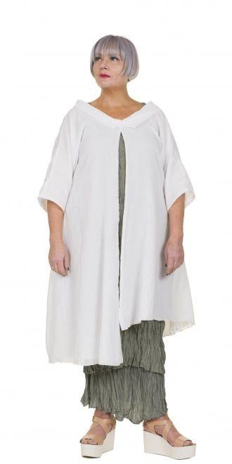 Yiannis Karitsiotis Soft White Oversized Jacket