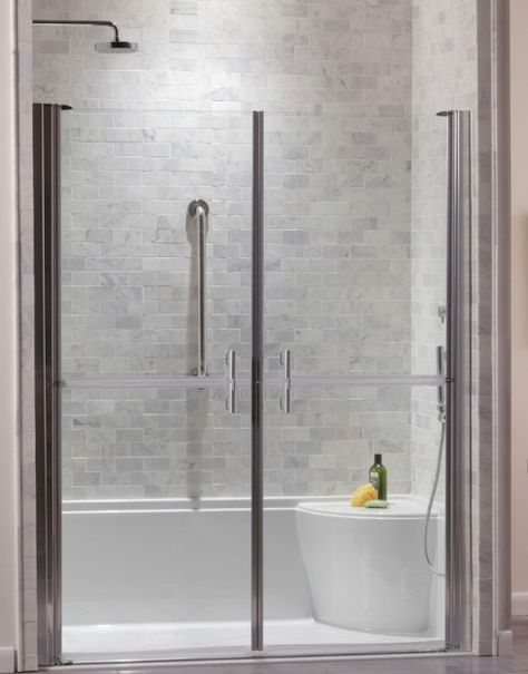 This Zero Threshold Shower Base From Jason Hydrotherapy Is An Elegant  Solution For An Accessible Shower. The Stainless Steel Linear Drain Runs  Across The ...