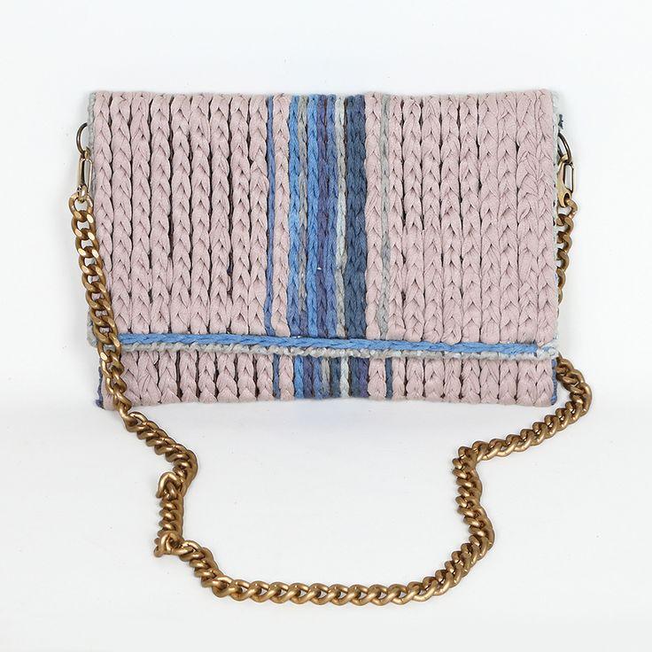 Handmade crochet clutch