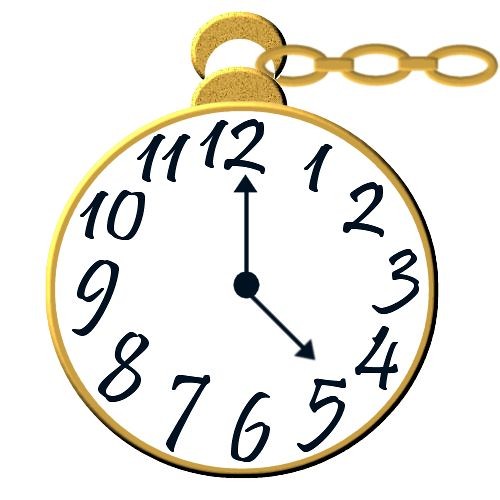 alice in wonderland clock clipart - photo #5