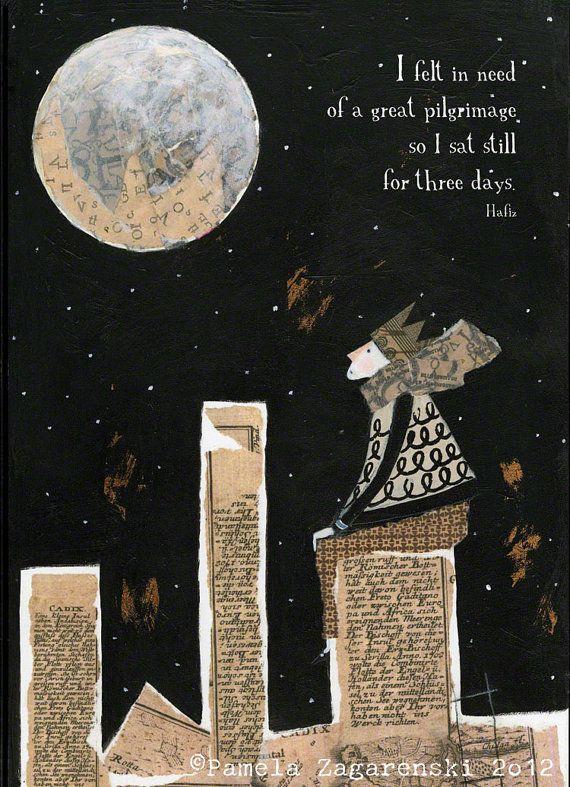 Brilliant! Love this!   CARDSRumi  Hafiz Inspired set of 6 by PamelaZagarenski on Etsy, $18.00