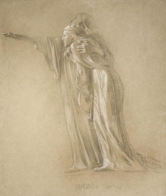 František Bílek (1872-1941), Slepci (étude) - 1901