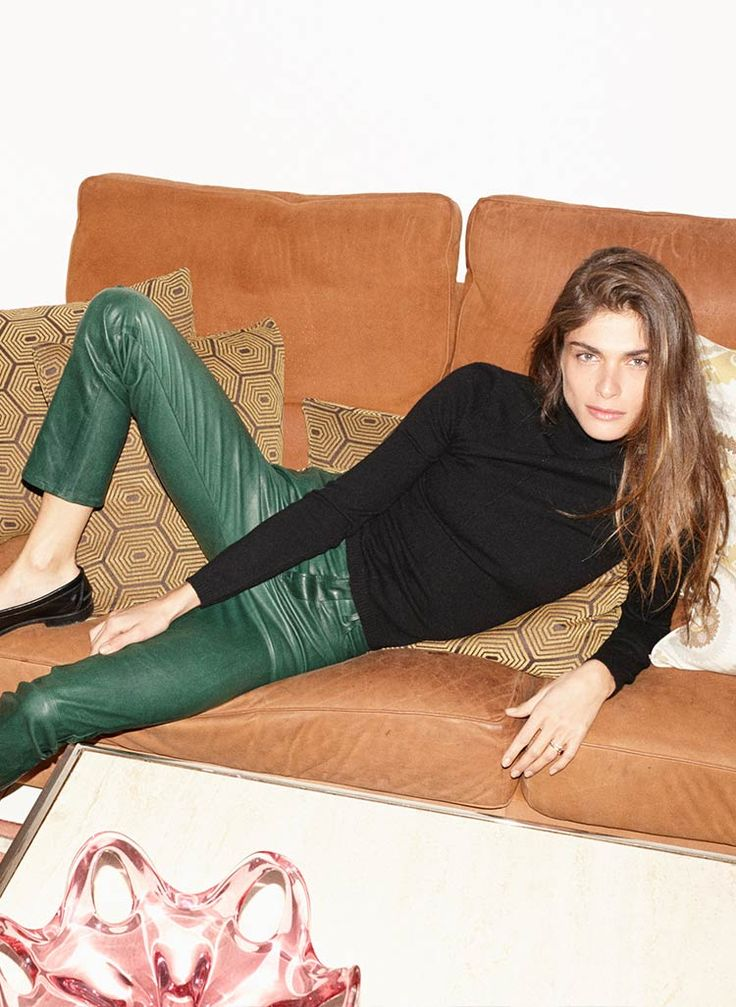 green leather pants by FRAME denim