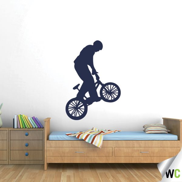 Bmx wall decal for a teenager 39 s bedroom boys bedroom for Bmx bedroom ideas
