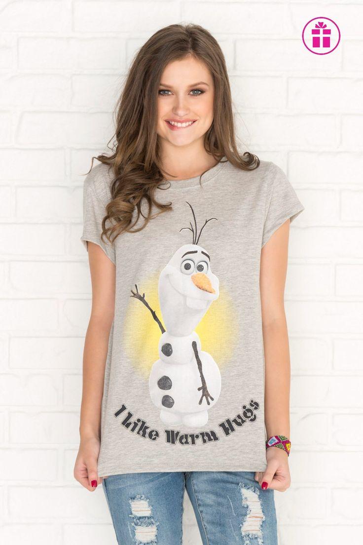 Heather grey Olaf graphic t-shirt