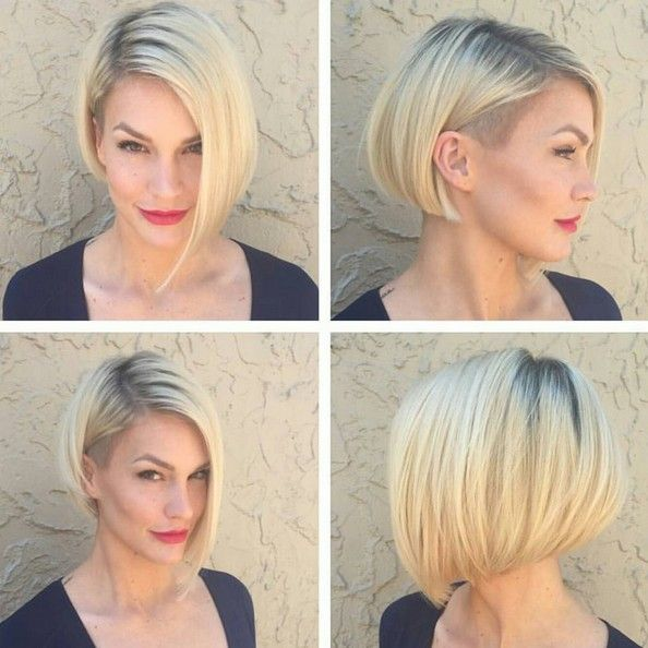 Aymmetrical, Short Straight Bob Hair Cut - Stylish Short Hairstyle Designs