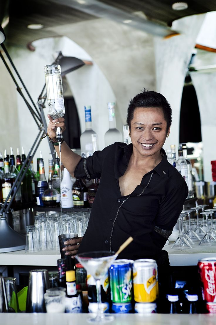 """School is overrated. I learn the art and craft of bartending while working at the bar,"" states Ari."