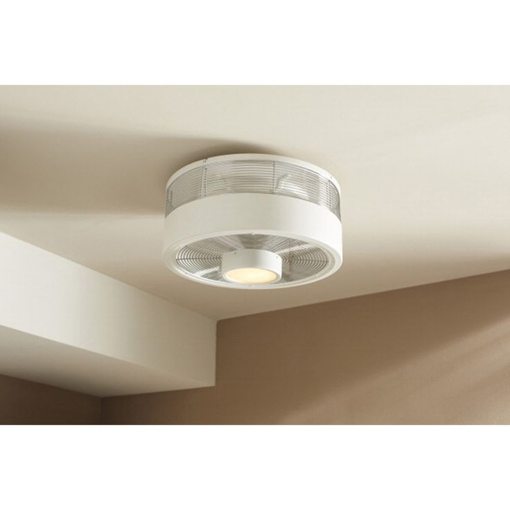 Ordinary Small Fan With Light Part - 7: Harbor Breeze Hive Series White Flush Mount Indoor Ceiling Fan With Light  Kit And Remote At Loweu0027s. Create A Cool Breeze For Any Small Space In Your  Home ...